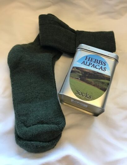 Cushioned Welly Socks and the tin